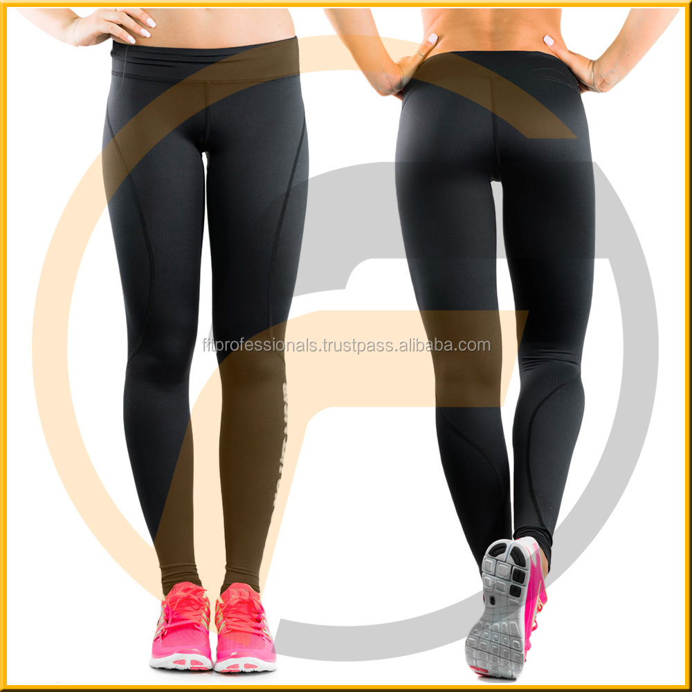 New Cheap Fitness Compression Tights with Super Stretch Jacquard Elastic