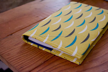 cotton canvas printed fabric covered journals with handmade paper pages