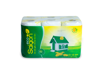 Saigon Eco Toilet Roll 2 ply recycled pulp 12 rolls