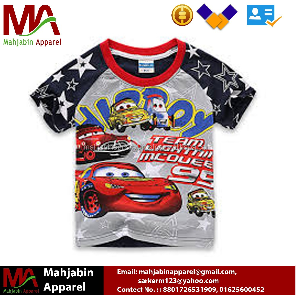 Petelulu Kids Clothing Company High Quality Tee Combed Cotton T Shirt For 2-10Yrs Boys