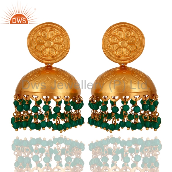Wholesale Indian Traditional Jhumkas Earrings Gold Plated 925 Silver Jhumkas Earrings Manufacturers of Girls Wedding Jewelry