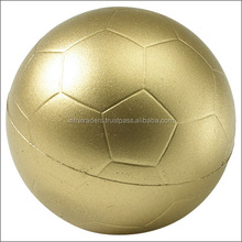 Gold leather football with custom logos