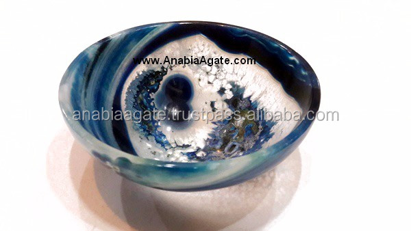 Tibetan Singing Bowls With Five Embossed Buddha - 4 Inch : From Anabia Agate Bolws