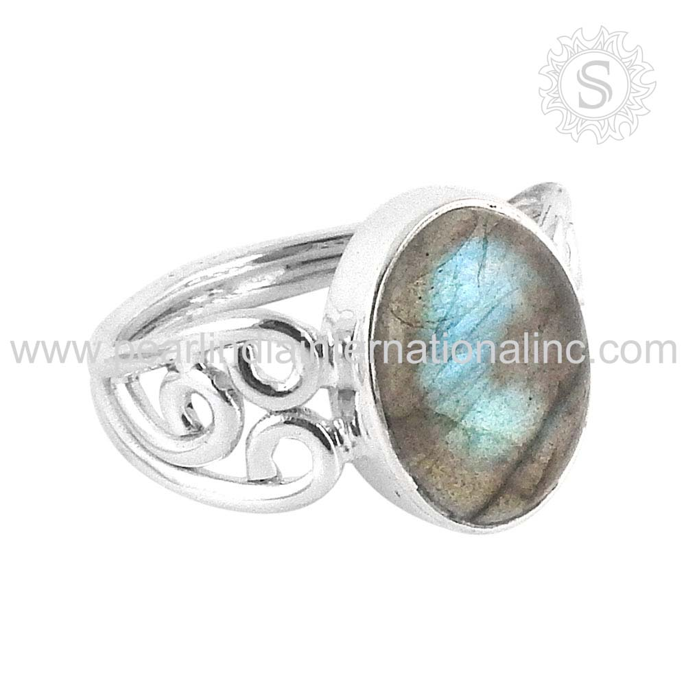 scenic Labradorite Gemstone Ring 925 Sterling Silver Jewelry Wholesale Silver Jewelry Price Per Gram