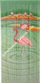 Home decorative wall art string door curtain with beads with flamingo