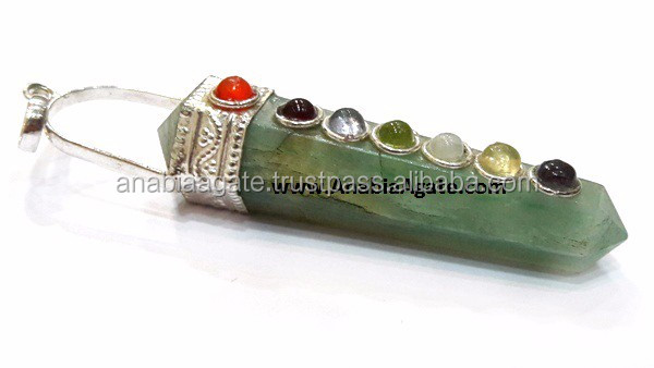 Rainbow Moonstone Chakra Flat Stick Pendant : Wholesaler of agate pendents
