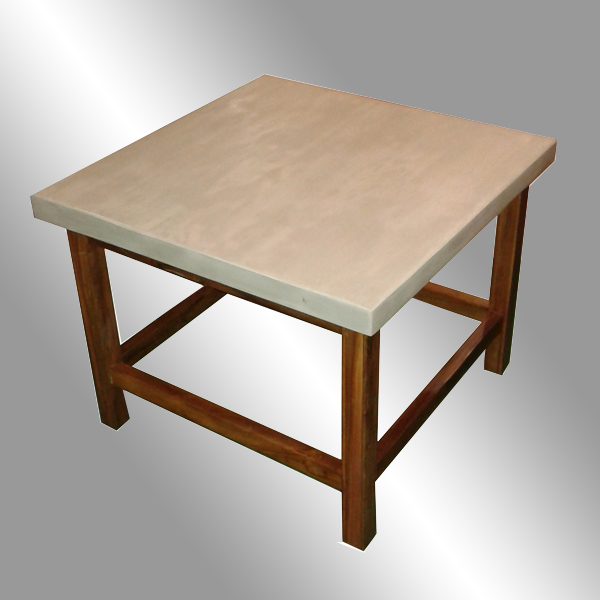 Teak Concrete Modular Coffee Table - Medan Design