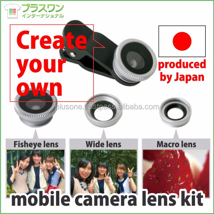 Portable and Compact cell phone camera lens kit with Black cover