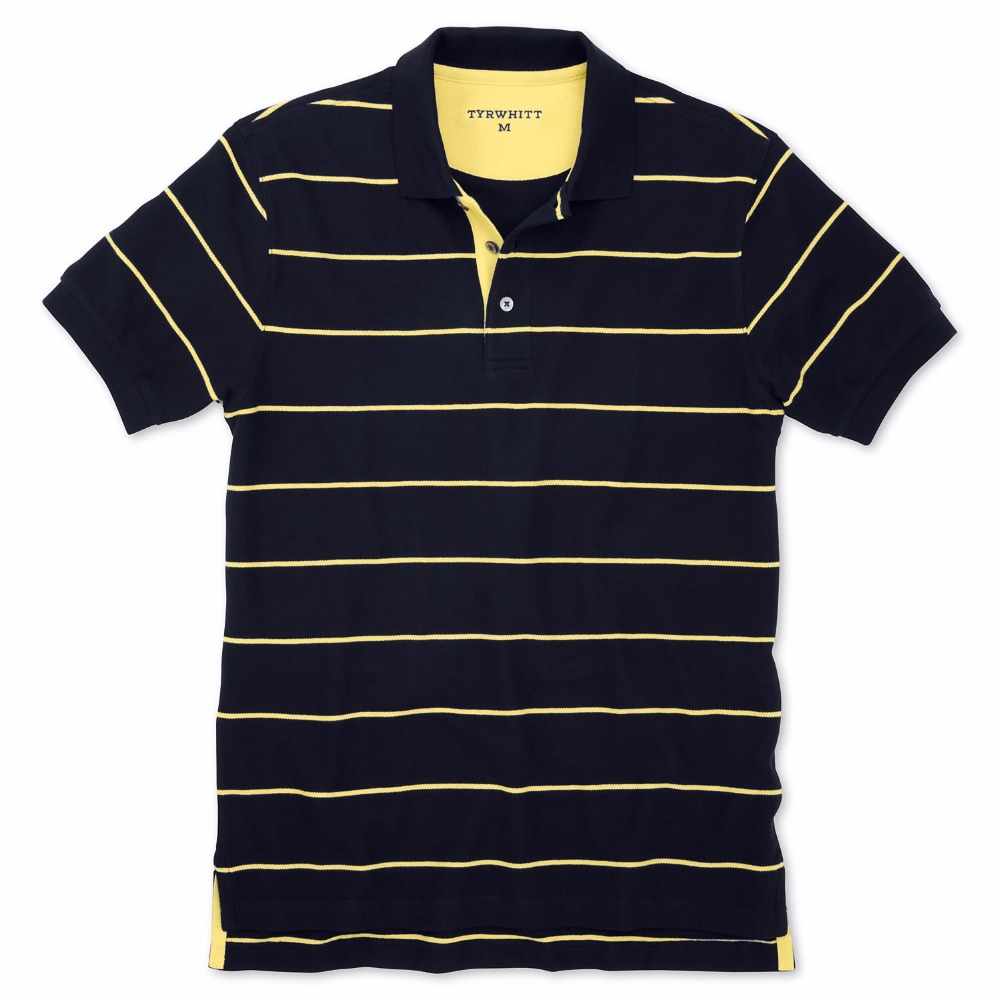 Stripes Polo T shirts For Mens