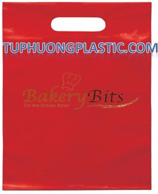 Best selling product Red Die cut handle poly bag
