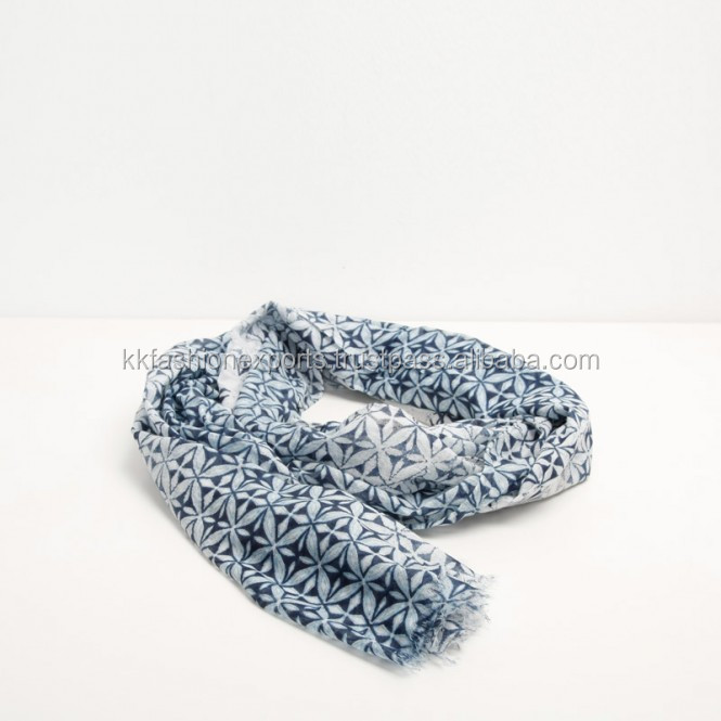100% Cotton Printed Scarf Soft Feeling