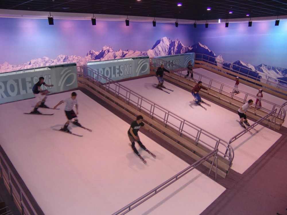 Buy in USA Endless dry slopes Proleski skiing simulator Fun indoor training and sports Ski and snowboard on revolving slopes