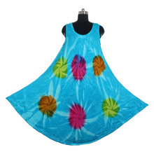 Formal Dresses Patterns Style DRT007 Elegant And Comfortable Cotton Tie Dye Dress