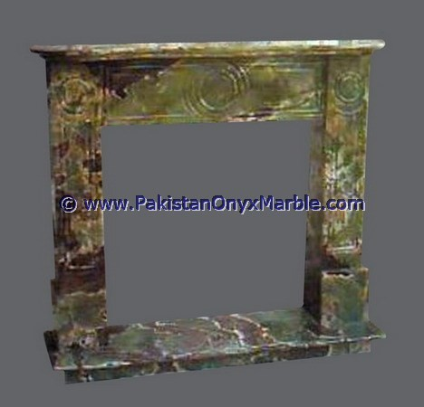 MANUFACTURER AND EXPORTERS MULTI GREEN ONYX FIREPLACES