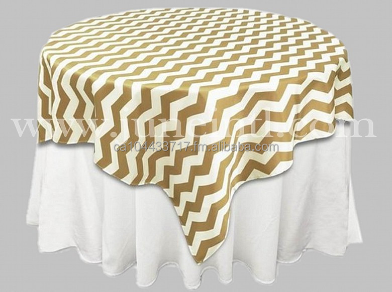 Chevron Print Satin Tablecloth