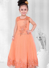 Simple design baby girls net frock designs wedding wear low price wholesale dress - Cut baby girl in peach frock