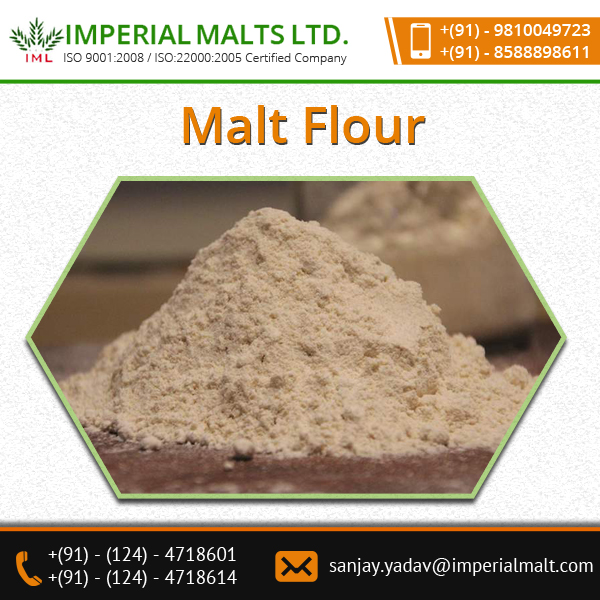 Increase in Volume and Browning of Malt Flour with Pleasant Aroma