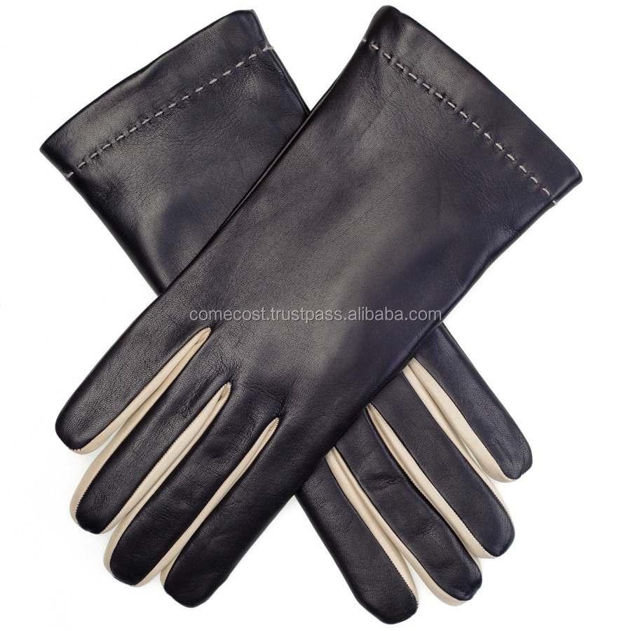 New Fashion Style Goatskin Leather Car Driving Gloves
