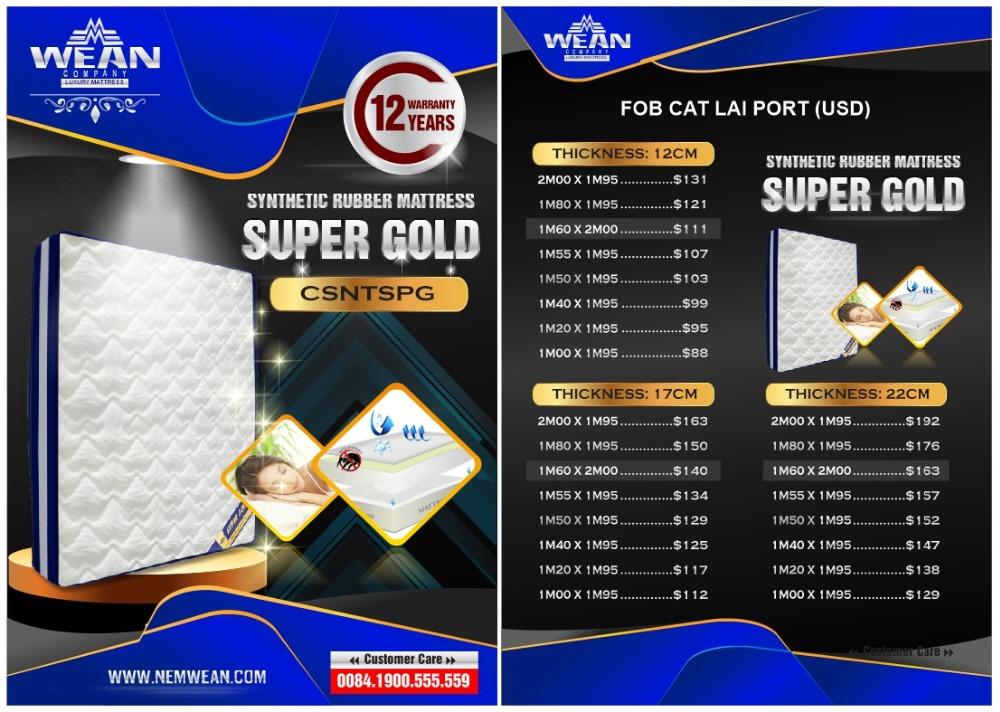 Synthetic Rubber Mattress SUPPER GOLD - Jozy Mattress   Jozy.net
