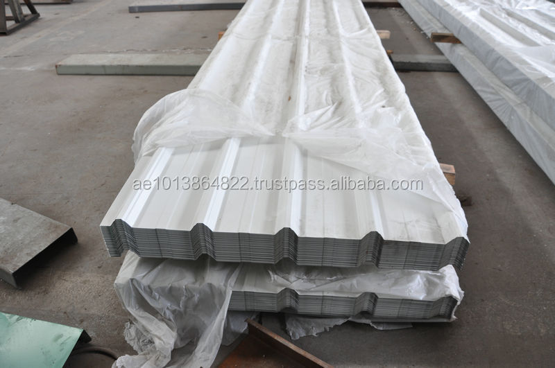 Single Skin Stainless Steel (SS) Roofing Corrugated Profile Cladding Sheet in Dubai