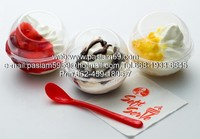 PET plastic Ice Cream Cups KFC, round, clear, with a lid.or Custom Molded Plastics, Plastic Injection Molding-Custom Molds,