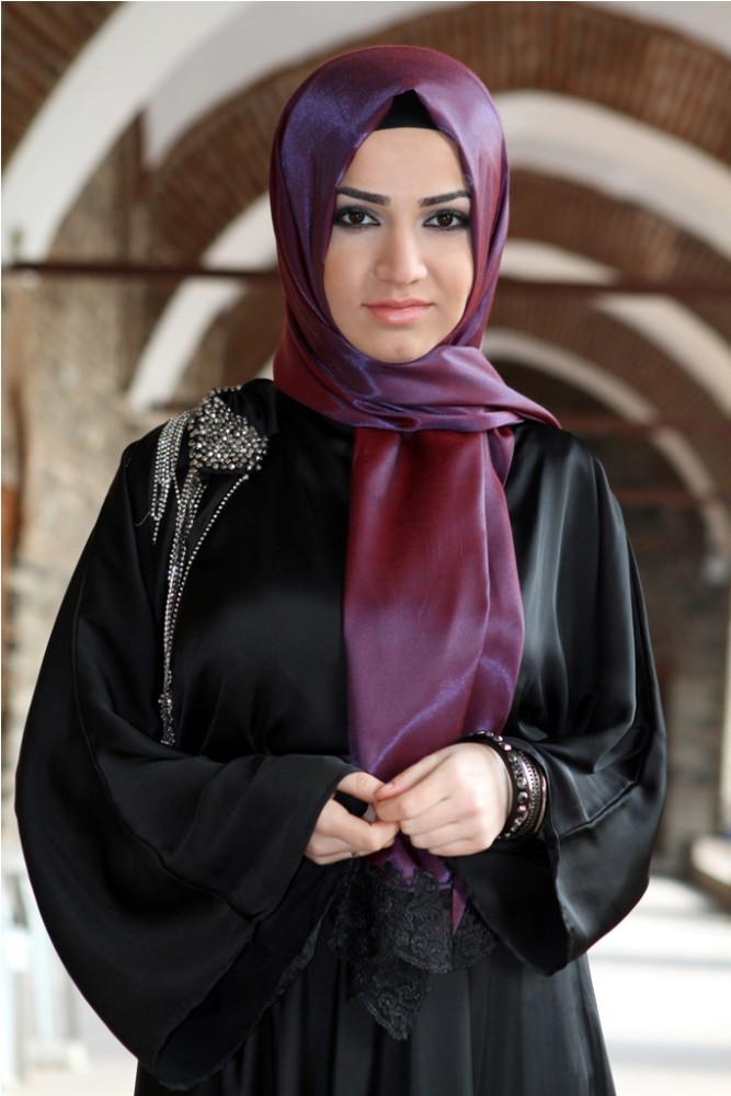 2015 New Style Exclusive High End Silk Looking Laced Hijab shawl 1013