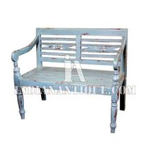 INDIAN SOLID WOOD FURNITURE DISTRESSED HAND PAINTED BENCH INDIAN INDUSTRIAL FURNITURE IA-DIS-134