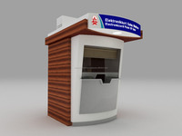 Outdoor Info Stand, Ticket Counter, booking office 01 Outdoor Kiosk Modular Kiosk Indoor candy design Ice cream waffle fast food