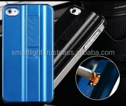 Cigarette Lighter Case for iPhone 4 4S 5 5S SE 6/6S/7/Plus models for Samsung S4 S5 S6 S7 Edge models, Note 5 4 3 for LG models