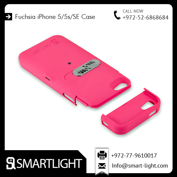 Hot Selling Fuchsia Cover for iPhone 5S with Original Lighter