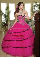 Bridal Wedding Dress Drop Waist Ball Gown Pink So Beautiful