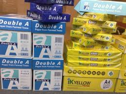 80GSM Double A A4 Size Copy Paper from Thailand