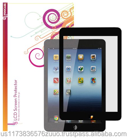 EZ-ON Screen protector guard coverage Anti-Glare HD Clear Film Guard (100% bubble free installation) for iPad Mini roocase
