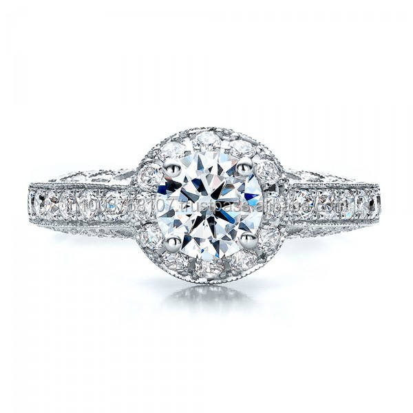 Real Natural Solitaire Diamond Engagement Ring in 14k White Gold @ Best prices and shipping world wide