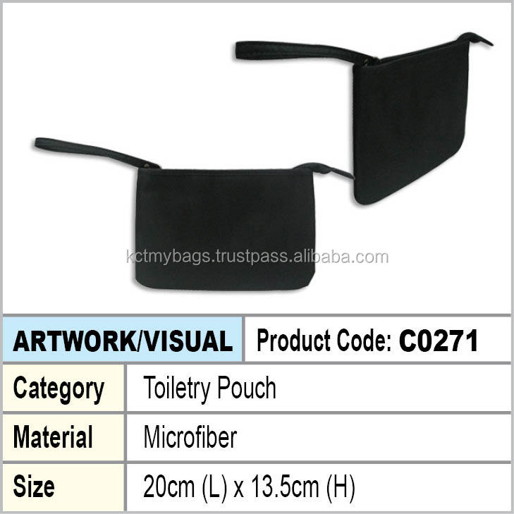 microfiber toiletry pouch
