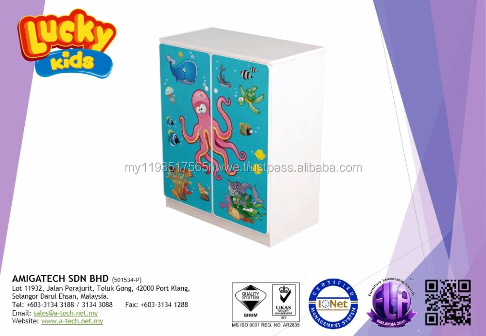 LUCKY KIDS - Sea World Series: 2 Doors Cabinet