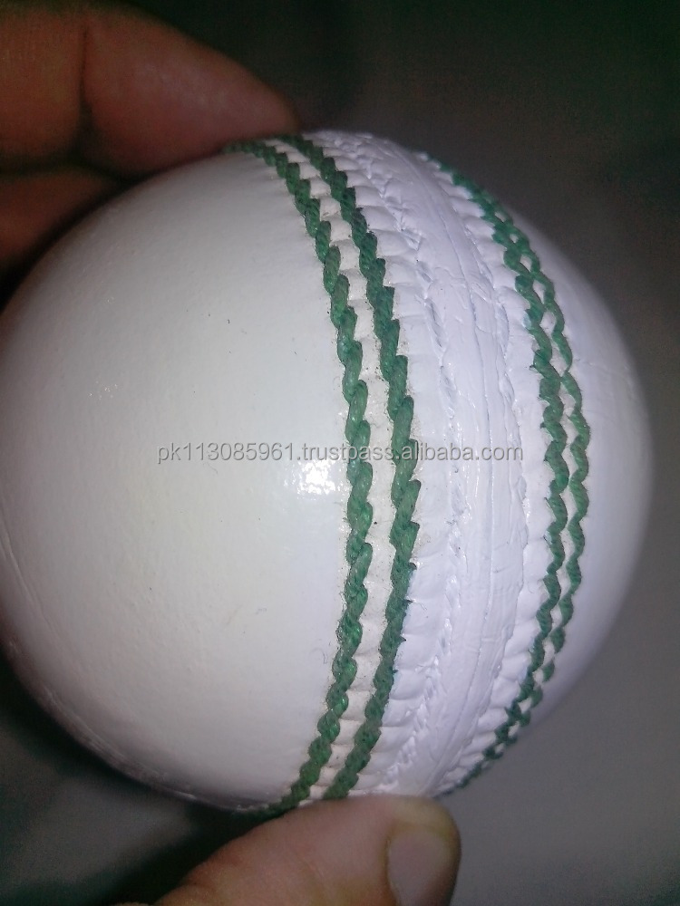 white Leather cricket balls