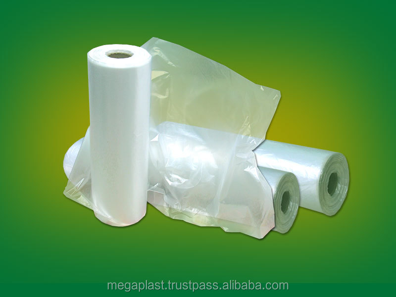 plain bag,flat bag,plastic packaging bag on roll