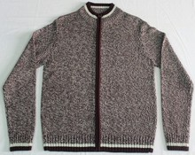 Men's Customized Twisted Cardigan Full Zipper Sweaters for Men