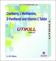 Cranberry, L Methionine, D Panthenol and Vitamin C Tablet