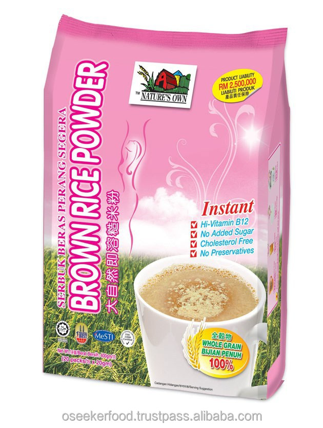 Instant Brown Rice Powder 20gm/sachet, Sugar Free, Is a Diabetic Friend & Perfect Baby Food