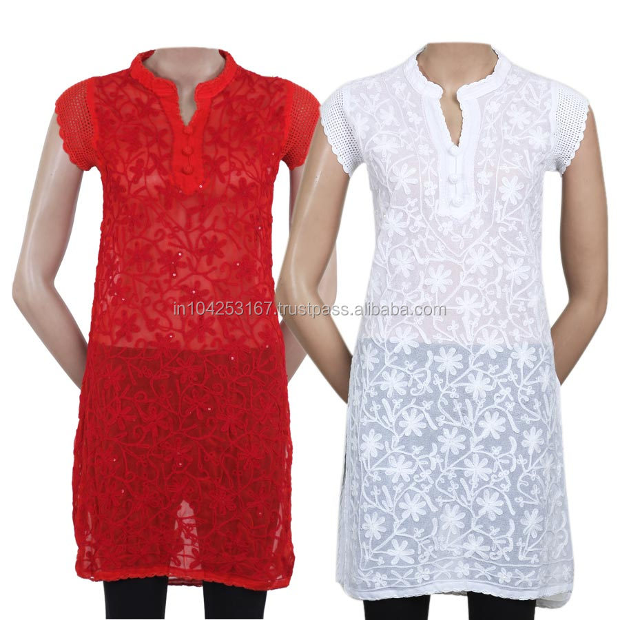 delhi wholesale kurtis, hand embroidery designs for kurtis, branded kurtis in various designs