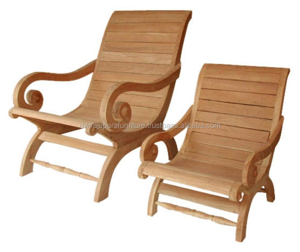 Solid Wood Lazy Chair - Teak Indoor Furniture Indonesia