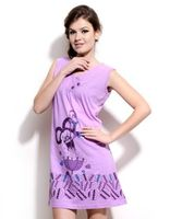 Women Nightwear Designer Cotton Short Nighty and sleepwear Light Purple