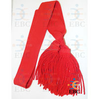 Red Duty Sash, Military Uniforms and Accessories, Scarlet Red Duty Sash