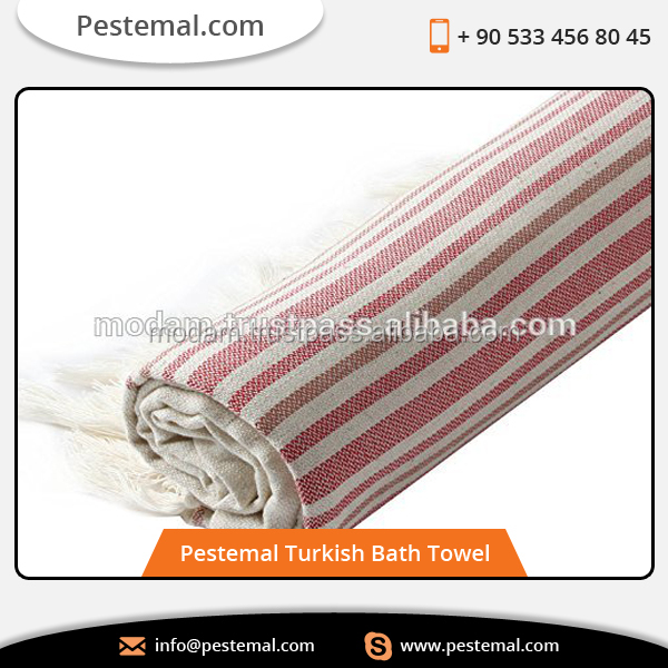Linen Cotton Pestemal Turkish Towels 37 x 70 inch Red Striped