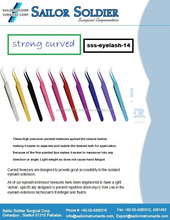 eyelash extention tweezer strong curved