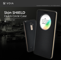VOIA for LG G4 Stylus Skin Shield Quick Circle Flip case Battery cover type