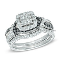 Exquisite!! Black Diamond Engagement Certified Diamonds Design Your Own Ring