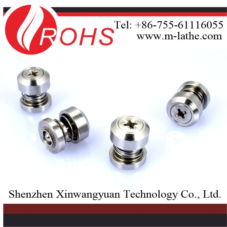 hot sale zinc plated steel knurled head Panel Screw Fasteners CNC Machining Service Parts Milling Machined Anodized Aluminum Par